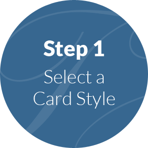 step 1, select your handwritten card