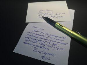 A Handwritten Card